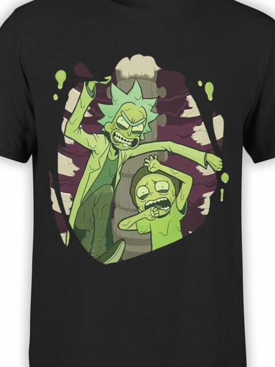 1454 Rick and Morty T Shirt Escape Front Color