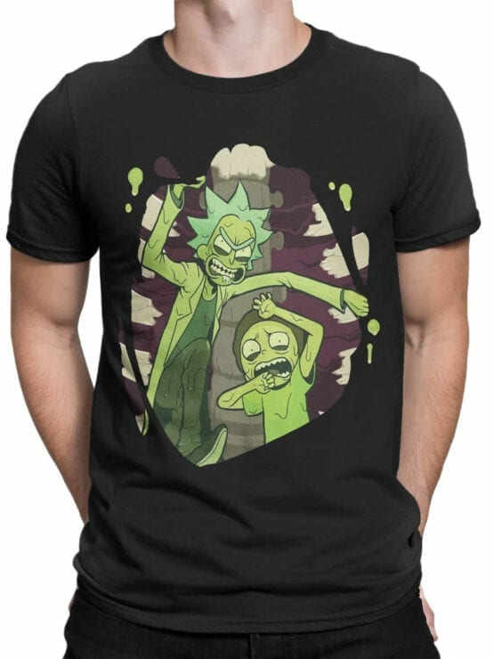 1454 Rick and Morty T Shirt Escape Front Man 1