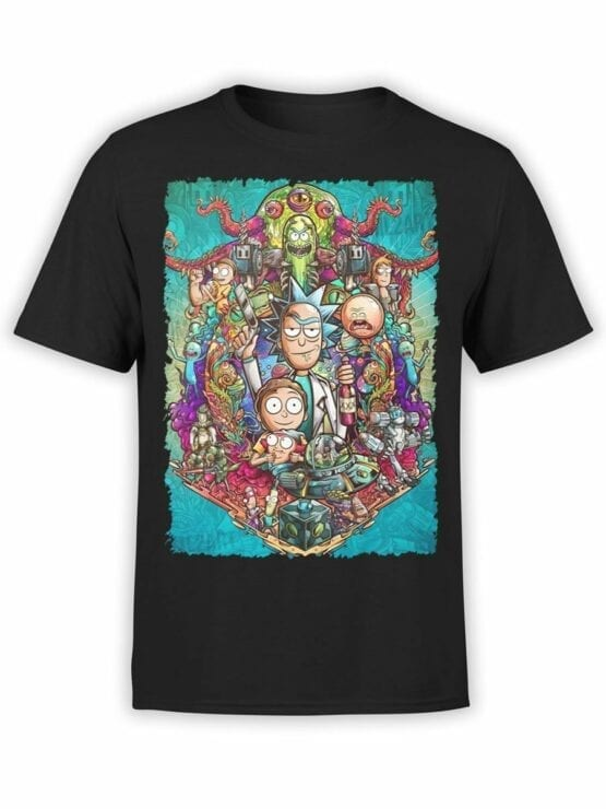 1456 Rick and Morty T Shirt Characters Front