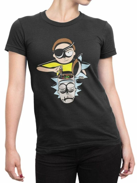 1457 Rick and Morty T Shirt Tuning Front Woman