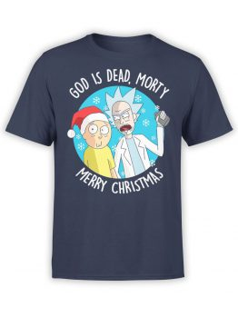 1459 Rick and Morty T Shirt Rick Merry Christmas Front