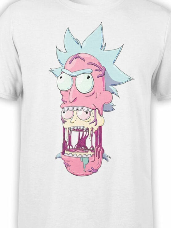 1460 Rick and Morty T Shirt Head Front Color