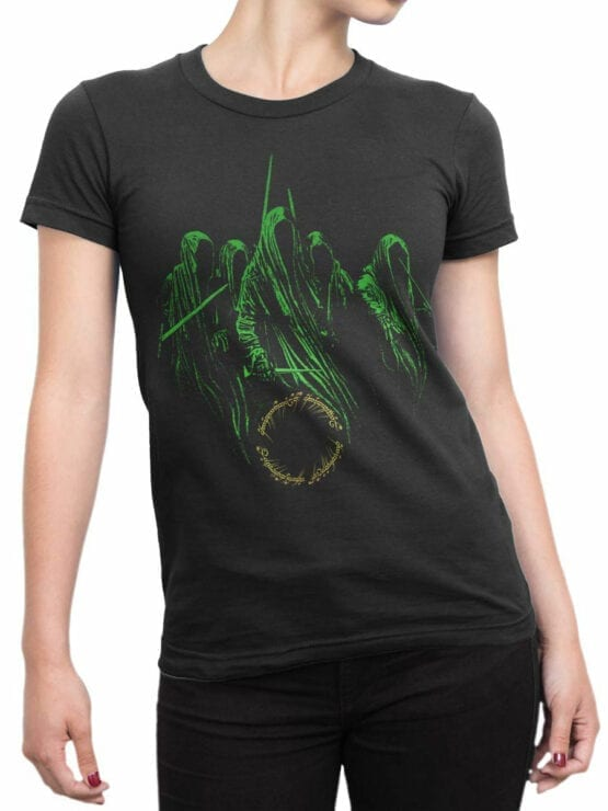 1464 The Lord of the Rings T Shirt Nazguls Front Woman