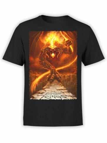 1465 The Lord of the Rings T Shirt Balrog Front