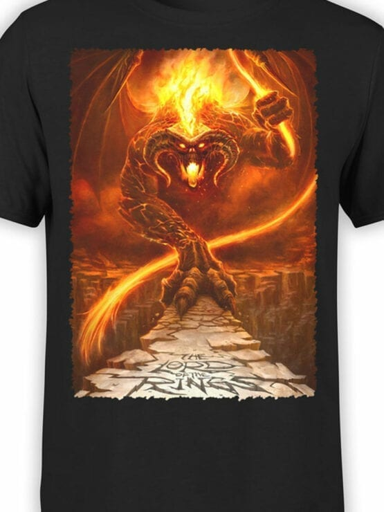 1465 The Lord of the Rings T Shirt Balrog Front Color