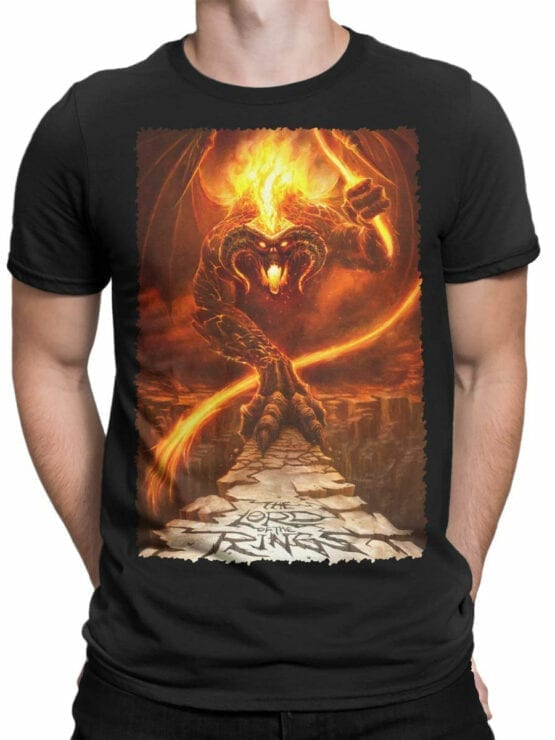 1465 The Lord of the Rings T Shirt Balrog Front Man