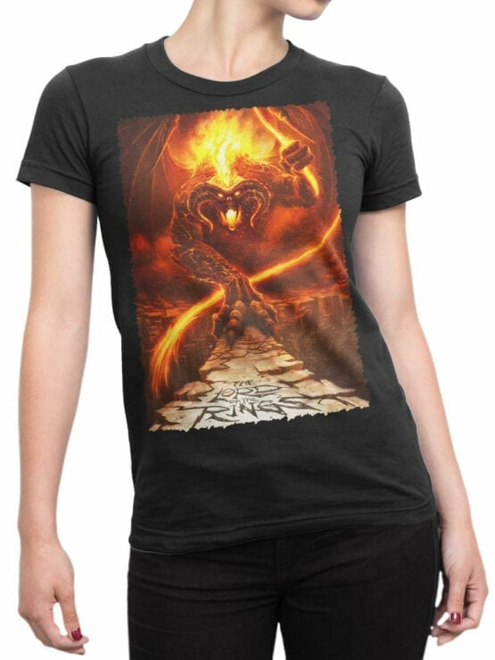 1465 The Lord of the Rings T Shirt Balrog Front Woman
