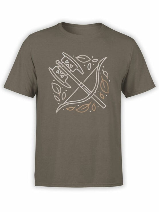 1466 The Lord of the Rings T Shirt Weapon Front