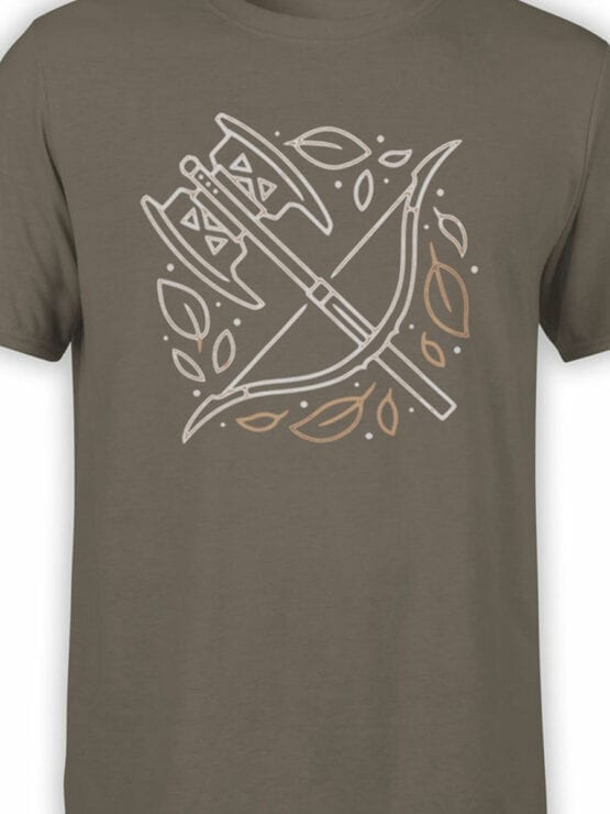 1466 The Lord of the Rings T Shirt Weapon Front Color
