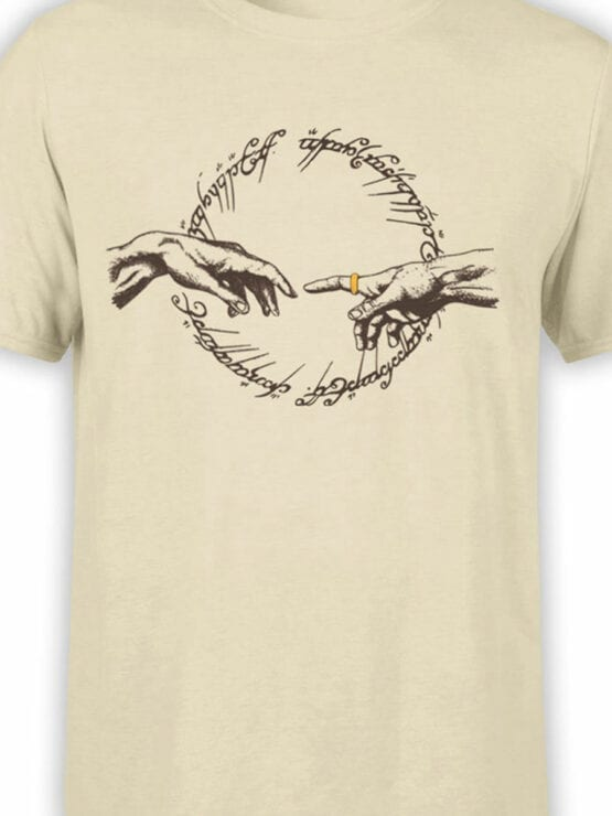 1469 The Lord of the Rings T Shirt Divine Ring Front Color