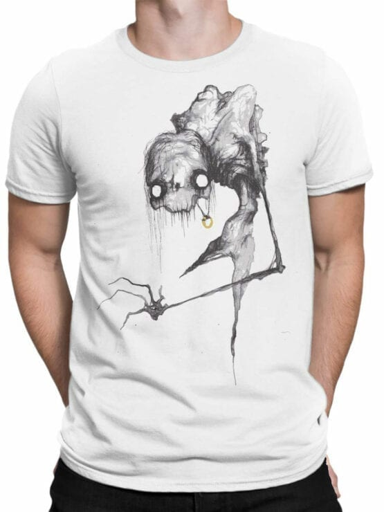 1470 The Lord of the Rings T Shirt Scary Gollum Front Man