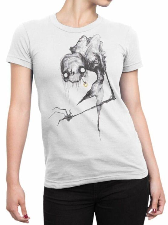 1470 The Lord of the Rings T Shirt Scary Gollum Front Woman