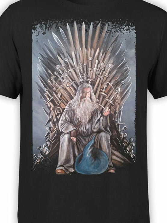 1471 The Lord of the Rings T Shirt Game of Gandalf Front Color