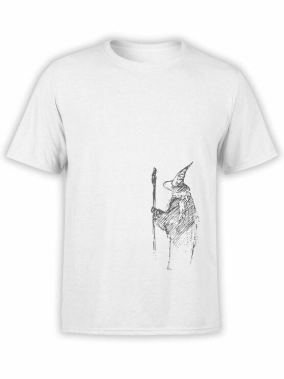 1472 The Lord of the Rings T Shirt Gandalf the Grey Front
