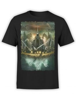 1474 The Lord of the Rings T Shirt Mordor Front