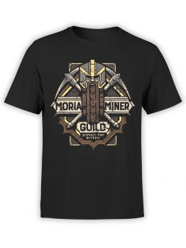 1476 The Lord of the Rings T Shirt Moria Miner Front