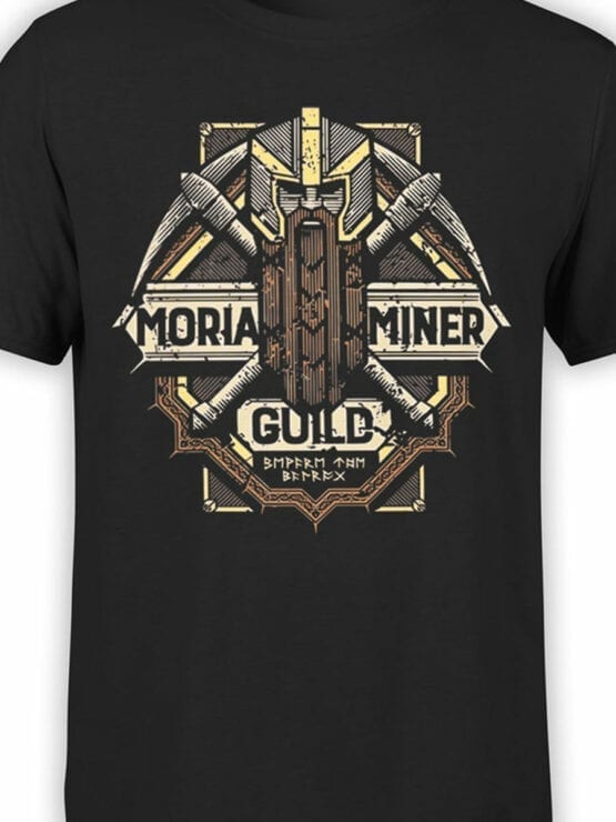 1476 The Lord of the Rings T Shirt Moria Miner Front Color