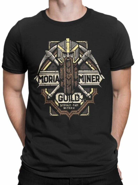 1476 The Lord of the Rings T Shirt Moria Miner Front Man