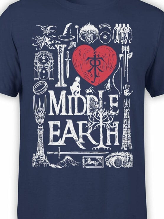 1478 The Lord of the Rings T Shirt Middle Earth Front Color