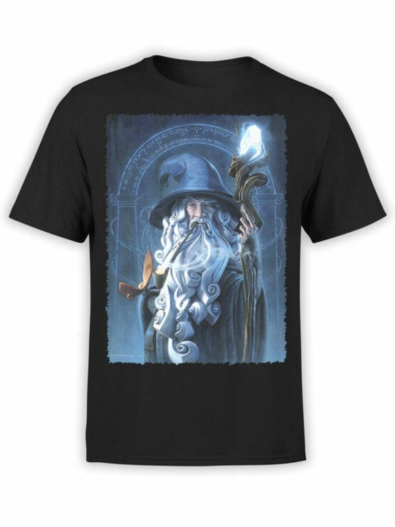 1481 The Lord of the Rings T Shirt Gandalf Front