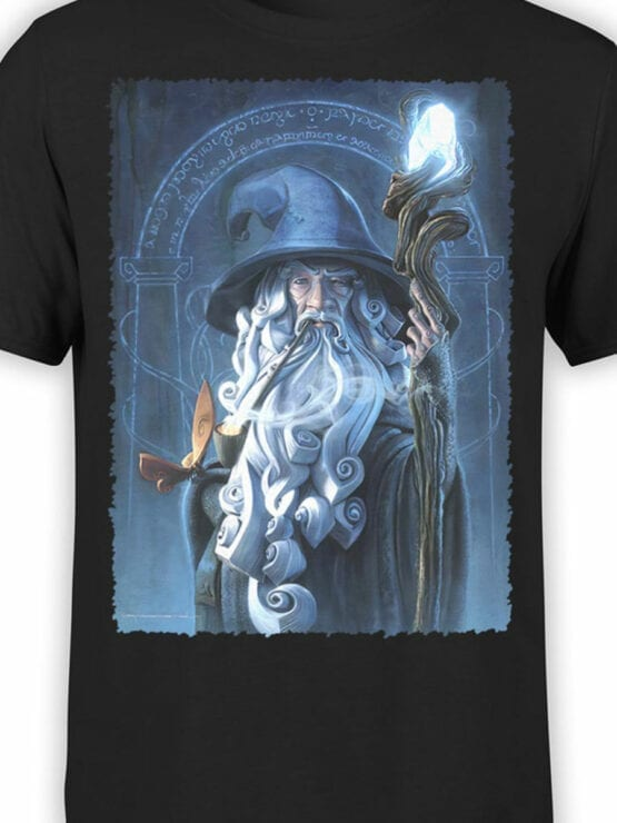 1481 The Lord of the Rings T Shirt Gandalf Front Color