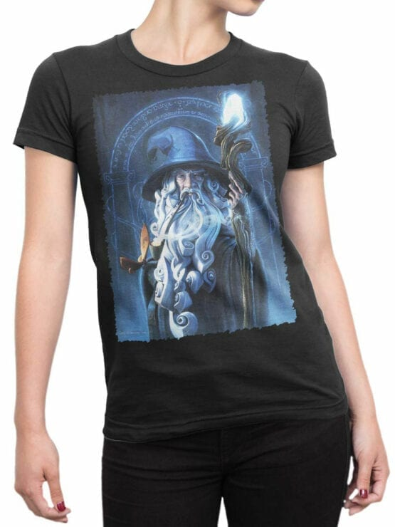 1481 The Lord of the Rings T Shirt Gandalf Front Woman