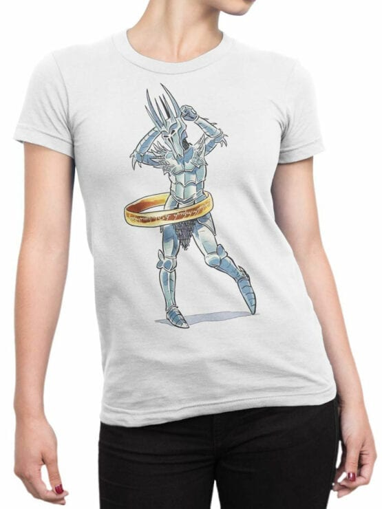 1483 The Lord of the Rings T Shirt Sauron Dance Front Woman