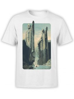 1485 The Lord of the Rings T Shirt Argonath Front
