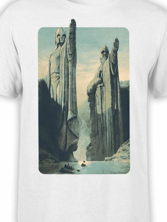 1485 The Lord of the Rings T Shirt Argonath Front Color