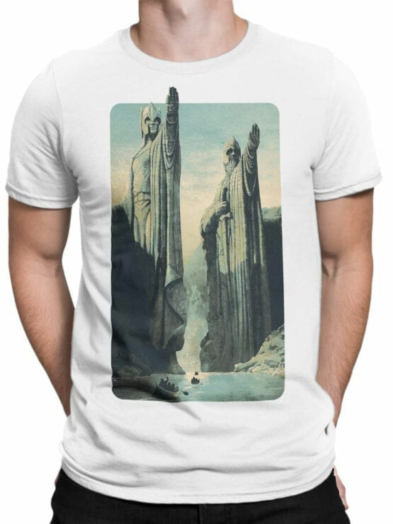 1485 The Lord of the Rings T Shirt Argonath Front Man