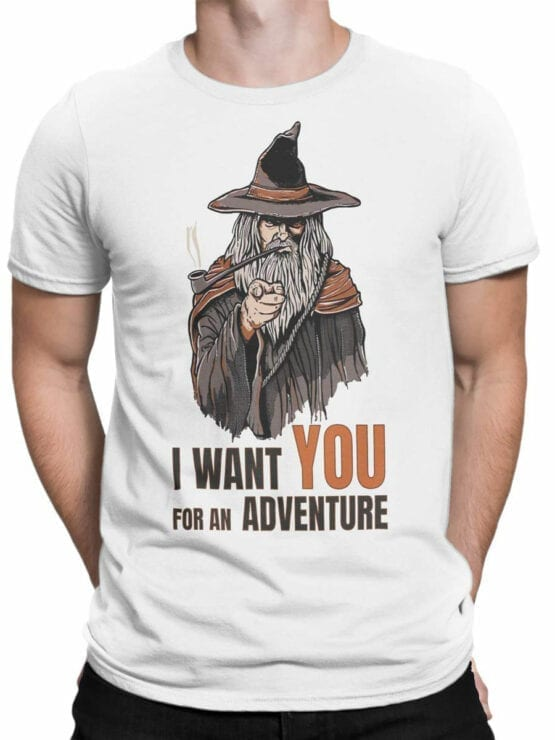 1487 The Lord of the Rings T Shirt Adventure Front Man