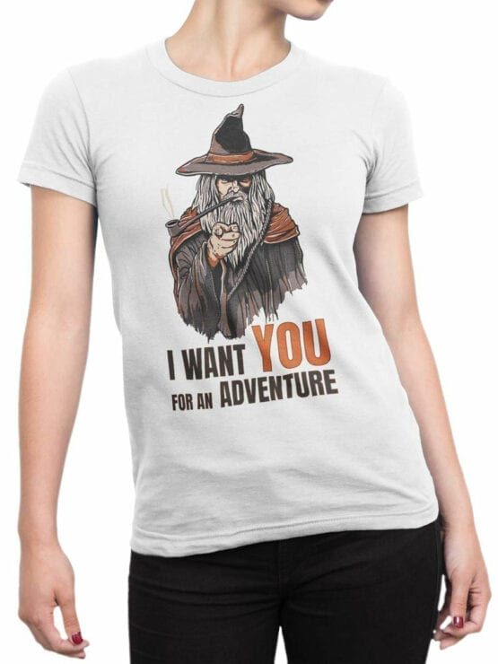 1487 The Lord of the Rings T Shirt Adventure Front Woman