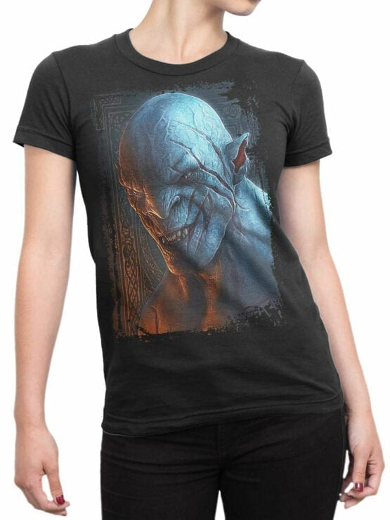 1488 The Lord of the Rings T Shirt Azog Front Woman