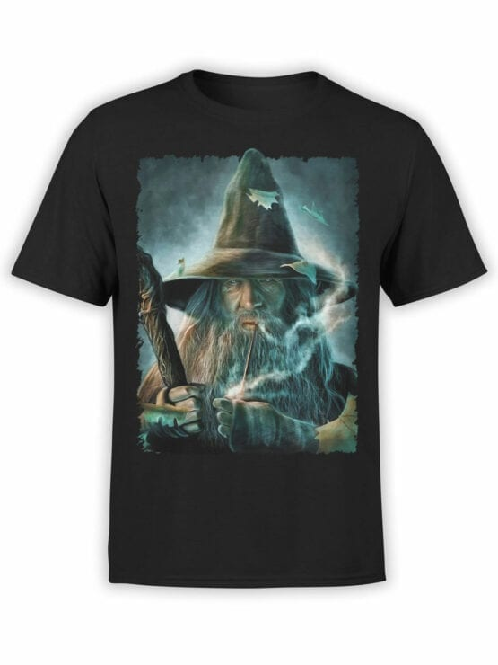 1491 The Lord of the Rings T Shirt Gandalf Front
