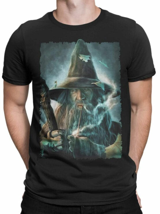1491 The Lord of the Rings T Shirt Gandalf Front Man