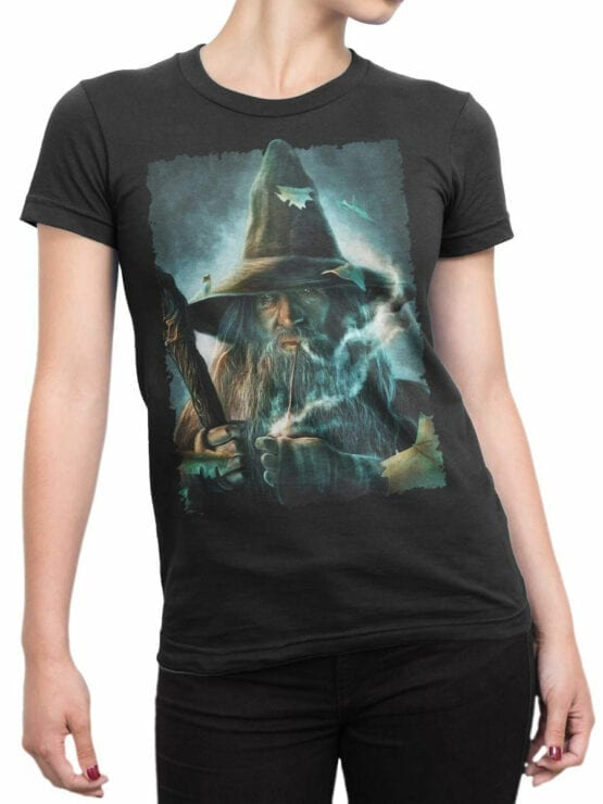 1491 The Lord of the Rings T Shirt Gandalf Front Woman