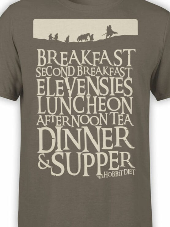 1492 The Lord of the Rings T Shirt Breakfast Front Color