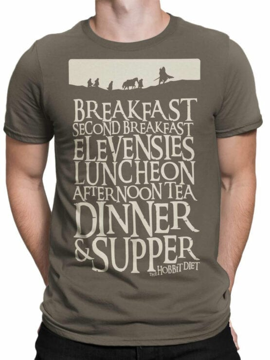 1492 The Lord of the Rings T Shirt Breakfast Front Man