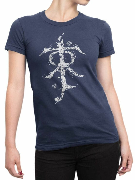 1493 The Lord of the Rings T Shirt Rune Front Woman