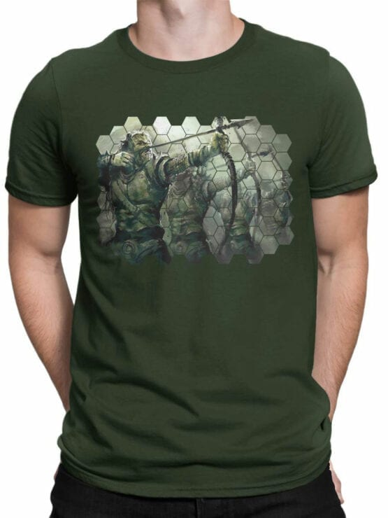 1496 The Lord of the Rings T Shirt Orcs Front Man