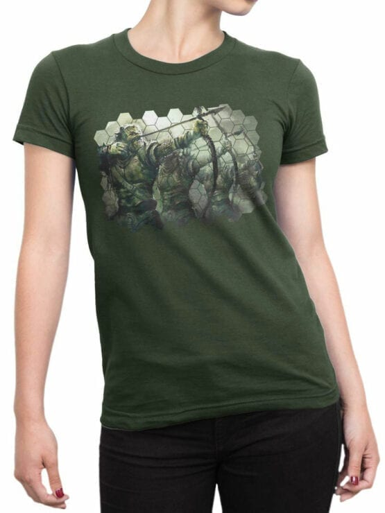 1496 The Lord of the Rings T Shirt Orcs Front Woman