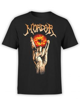 1499 The Lord of the Rings T Shirt Mordor Front