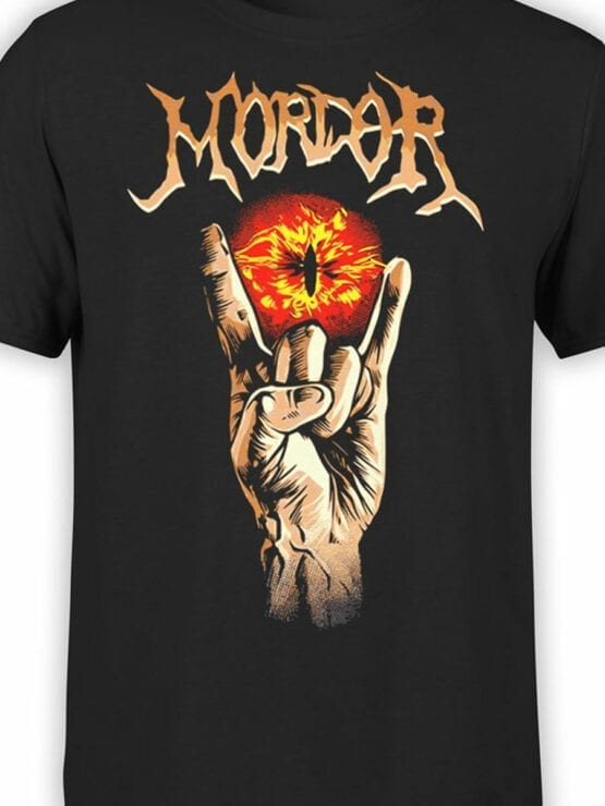 1499 The Lord of the Rings T Shirt Mordor Front Color