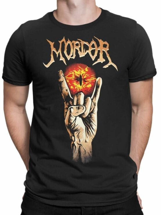 1499 The Lord of the Rings T Shirt Mordor Front Man