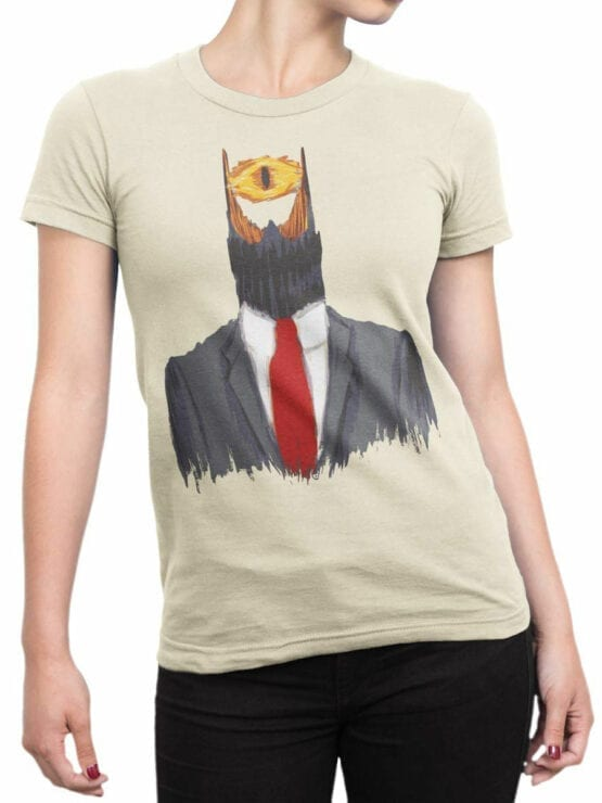 1501 The Lord of the Rings T Shirt Mr. Sauron Front Woman