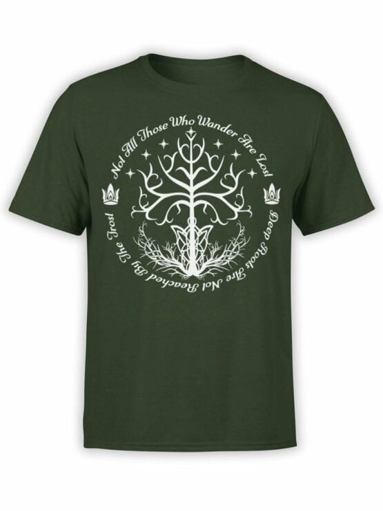 1502 The Lord of the Rings T Shirt White Tree of Gondor Front