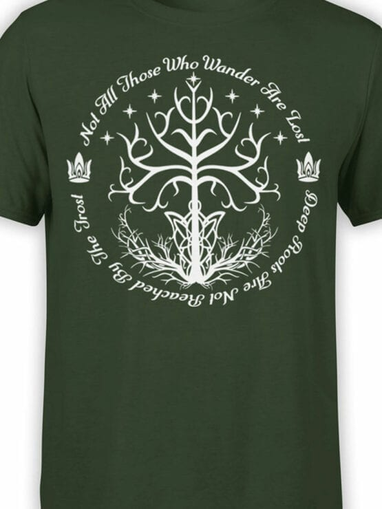 1502 The Lord of the Rings T Shirt White Tree of Gondor Front Color