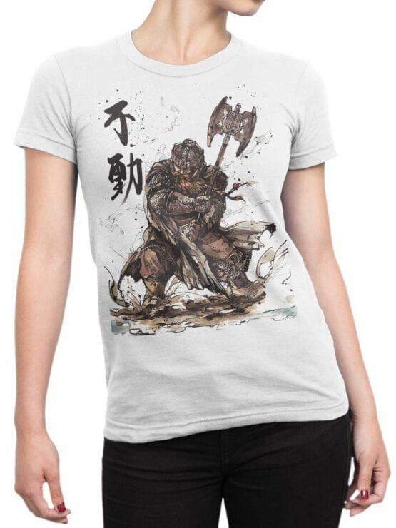 1503 The Lord of the Rings T Shirt Gimli Front Woman