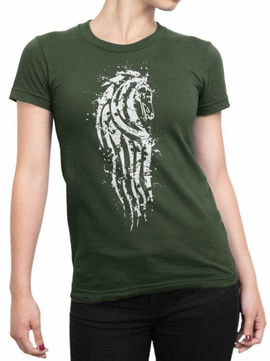 1504 The Lord of the Rings T Shirt Rohan Front Woman 1