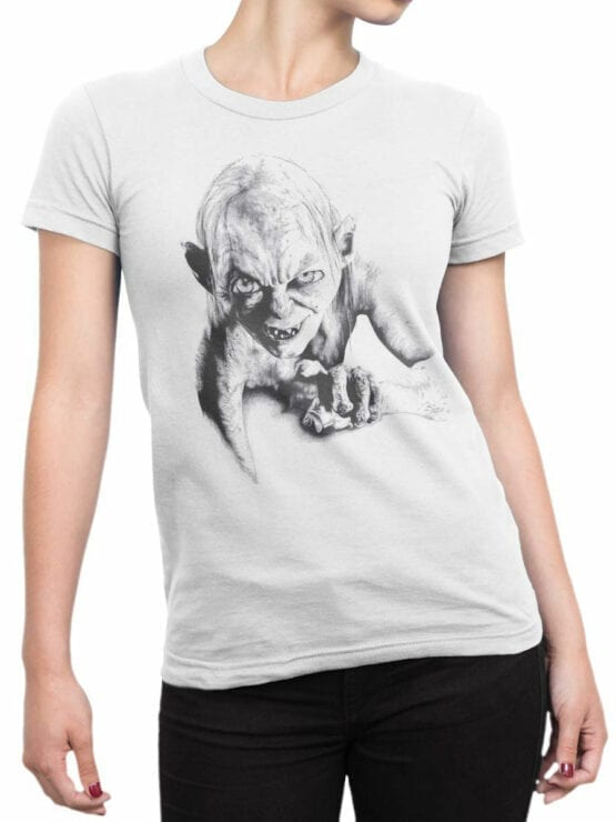1509 The Lord of the Rings T Shirt Gollum Front Woman